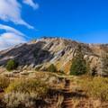 North Peak from the trail.- Mount Nebo + North Peak