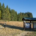 Information sign at the Blanton Ridge Trailhead.- Ridgeline Trail System: Blanton Trailhead