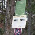 Information signs posted along the Ridgeline Trail.- Ridgeline Trail System: Blanton Trailhead