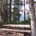 Picnic table with a view.- Castle Lake