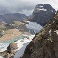 View from Garden Wall to Grinnell Glacier.- Garden Wall