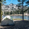 Campsite by upper Tamarack Lake.- Tamrack Lakes Hike