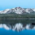 Fallen Leaf Lake with Desolation Wilderness beyond.- Fallen Leaf Lake Campground