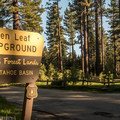 Fallen Leaf Lake Campground.- Fallen Leaf Lake Campground