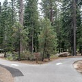 Campground roads are old and narrow.- Fallen Leaf Lake Campground