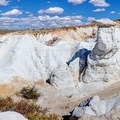 Panoramic view of the hoodoos at the Paint Mines Interpretive Park.- Paint Mines Interpretive Park