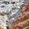 Top view of multicolored layers at the Paint Mines Interpretive Park.- Paint Mines Interpretive Park