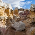 This part of the site makes it easier to appreciate the multiple layers, not only different colors, but different materials altogether.- Paint Mines Interpretive Park