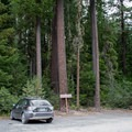 Parking area for the Warm Springs Falls Trail.- Warm Springs Falls