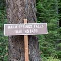 Warm Springs Falls Trailhead.- Warm Springs Falls