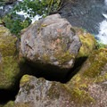 Columnar basalt cliff next to Warm Springs Falls.- Warm Springs Falls