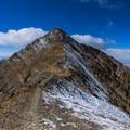 The upper north ridge from the false summit of Nebo.- Mount Nebo + North Peak