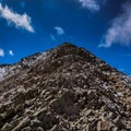Looking up just below the summit.- Mount Nebo + North Peak