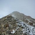 Clouds around the summit of Moun Nebo.- Mount Nebo + North Peak