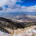The view to the west from the summit of Moun Nebo.- Mount Nebo + North Peak