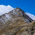 Mount Nebo's north summit from below the false summit.- Mount Nebo + North Peak