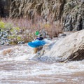 Airing out on a good boof in the Horseshoe stretch of river.- Salt River: Daily Section