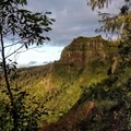 Looking toward Nounou Mountain from the trail.- Nounou Mountain via the East Ridge
