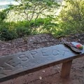 There's a place to rest and take in the view along the trail.- Nounou Mountain via the East Ridge