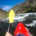 Approaching the first rapid, Meatgrinder (Class III+).- South Fork of the American River: Chili Bar to Coloma