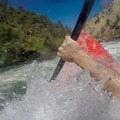 A wave punches into the photographer's chest.- South Fork of the American River: Chili Bar to Coloma