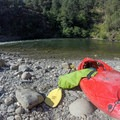 Everything packed into a stuff sack.- South Fork of the American River: Chili Bar to Coloma