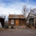 More lodging options at Mystic Hot Springs in the form of pioneer-era cabins.- Mystic Hot Springs