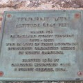 Plaque on Tennent Mountain.- Art Loeb Trail