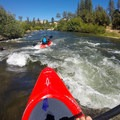 Passing through a mellow Class I rapid.- South Fork of the American River: Coloma to Greenwood (C to G)