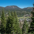 Looking back toward the town of Mammoth. - Mammoth Rock Trail