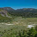 Looking over toward the town of Mammoth.- Mammoth Rock Trail