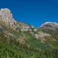 The trail runs just underneath Mammoth Rock.- Mammoth Rock Trail