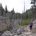 Entering the Hoodoos in Yellowstone National Park.- The Hoodoos
