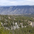 Beautiful look at the road and the Mammoth area in Yellowstone National Park.- The Hoodoos