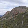 Look to your east for a view of Bunsen Peak.- The Hoodoos