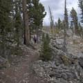 A return view of the Hoodoos.- The Hoodoos