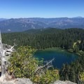 Viewpoint of Big Twin Lake.- Twin Lakes