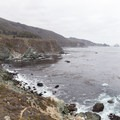Looking south at Jade Cove from the northern trail.- Jade Cove