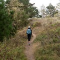 Walking up to Whaler's Knoll.- North Shore Trail + Whaler's Knoll