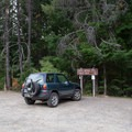White Mule Trailhead parking area for the North Umpqua Trail.- Lemolo Falls via the North Umpqua Trail