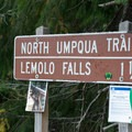 White Mule Trailhead along the North Umpqua Trail.- Lemolo Falls via the North Umpqua Trail
