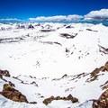 Looking west on the Kings Peak summit ridge.- Kings Peak Backcountry Skiing