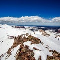 Skinning up the summit ridge of Kings Peak.- Kings Peak Backcountry Skiing