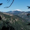 A lenticular cloud above Mount Rainier in the distance.- Ape Canyon to Plains of Abraham