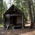 Foster's Cabin is used by snow monitoring personal during winter months.- Horseshoe + Ward Lakes via Swift Creek Trail