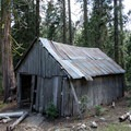 An old barn decaying by Fosters Cabin.- Horseshoe + Ward Lakes via Swift Creek Trail