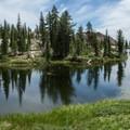 Panoramic view of Ward Lake.- Horseshoe + Ward Lakes via Swift Creek Trail