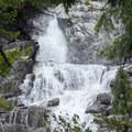 Spring snowmelt makes the falls massive.- Canyon Creek Falls