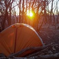 Ample campsites along the summit ridge.- Standing Indian Loop