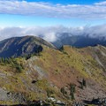 Looking back on the traversed ridge.- Silver Star Mountain via the Bluff Mountain Trail